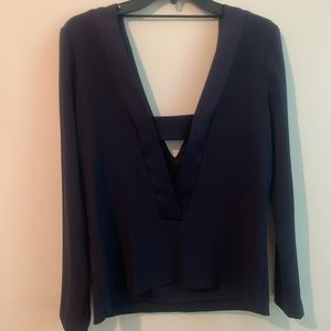 Like New Intermix Navy Blouse